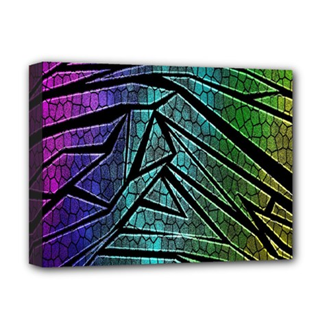 Abstract Background Rainbow Metal Deluxe Canvas 16  x 12