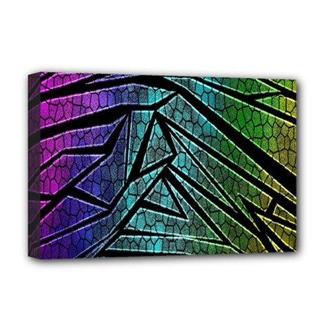 Abstract Background Rainbow Metal Deluxe Canvas 18  x 12
