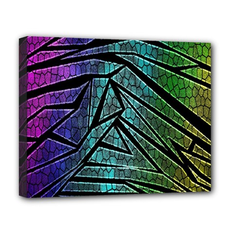 Abstract Background Rainbow Metal Deluxe Canvas 20  x 16