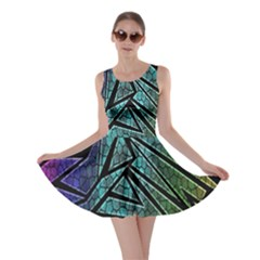 Abstract Background Rainbow Metal Skater Dress