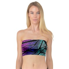 Abstract Background Rainbow Metal Bandeau Top