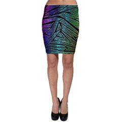 Abstract Background Rainbow Metal Bodycon Skirt