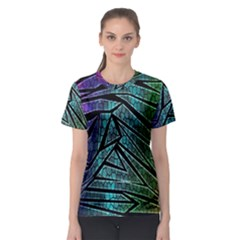 Abstract Background Rainbow Metal Women s Sport Mesh Tee
