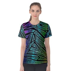 Abstract Background Rainbow Metal Women s Cotton Tee