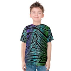 Abstract Background Rainbow Metal Kids  Cotton Tee