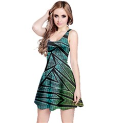 Abstract Background Rainbow Metal Reversible Sleeveless Dress