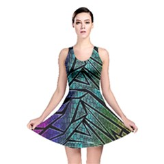 Abstract Background Rainbow Metal Reversible Skater Dress