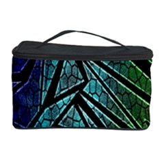 Abstract Background Rainbow Metal Cosmetic Storage Case
