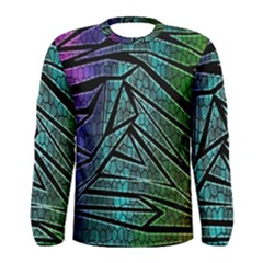 Abstract Background Rainbow Metal Men s Long Sleeve Tee