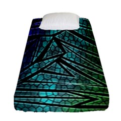 Abstract Background Rainbow Metal Fitted Sheet (Single Size)