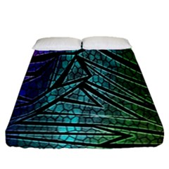 Abstract Background Rainbow Metal Fitted Sheet (Queen Size)