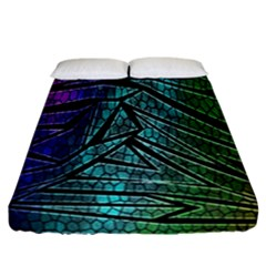 Abstract Background Rainbow Metal Fitted Sheet (California King Size)