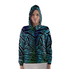 Abstract Background Rainbow Metal Hooded Wind Breaker (Women)