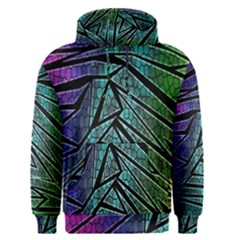 Abstract Background Rainbow Metal Men s Pullover Hoodie