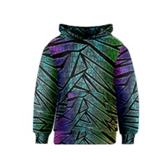 Abstract Background Rainbow Metal Kids  Pullover Hoodie