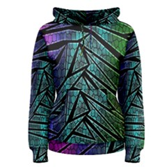 Abstract Background Rainbow Metal Women s Pullover Hoodie