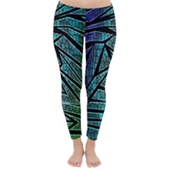 Abstract Background Rainbow Metal Classic Winter Leggings