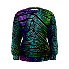 Abstract Background Rainbow Metal Women s Sweatshirt