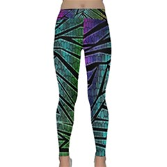 Abstract Background Rainbow Metal Classic Yoga Leggings