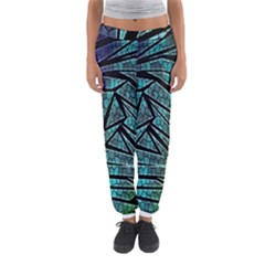 Abstract Background Rainbow Metal Women s Jogger Sweatpants