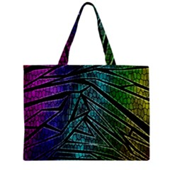 Abstract Background Rainbow Metal Zipper Mini Tote Bag
