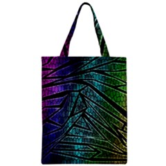 Abstract Background Rainbow Metal Zipper Classic Tote Bag