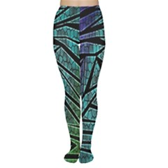 Abstract Background Rainbow Metal Women s Tights