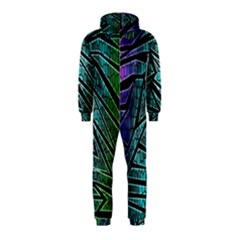 Abstract Background Rainbow Metal Hooded Jumpsuit (Kids)