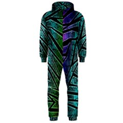 Abstract Background Rainbow Metal Hooded Jumpsuit (Men)