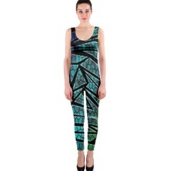 Abstract Background Rainbow Metal OnePiece Catsuit