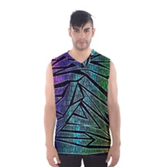 Abstract Background Rainbow Metal Men s Basketball Tank Top