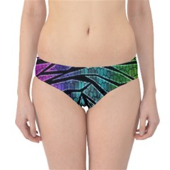 Abstract Background Rainbow Metal Hipster Bikini Bottoms