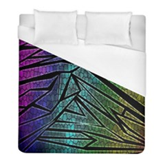 Abstract Background Rainbow Metal Duvet Cover (Full/ Double Size)