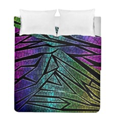 Abstract Background Rainbow Metal Duvet Cover Double Side (Full/ Double Size)