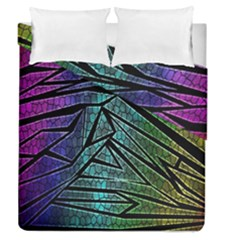 Abstract Background Rainbow Metal Duvet Cover Double Side (Queen Size)