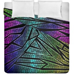 Abstract Background Rainbow Metal Duvet Cover Double Side (King Size)