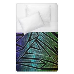 Abstract Background Rainbow Metal Duvet Cover (Single Size)