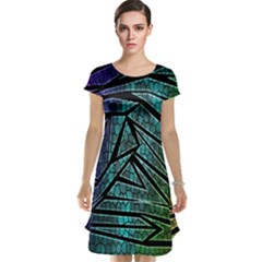 Abstract Background Rainbow Metal Cap Sleeve Nightdress
