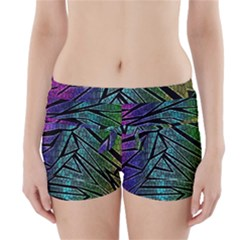 Abstract Background Rainbow Metal Boyleg Bikini Wrap Bottoms