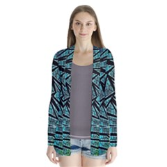 Abstract Background Rainbow Metal Cardigans