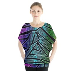 Abstract Background Rainbow Metal Blouse