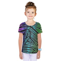 Abstract Background Rainbow Metal Kids  One Piece Tee