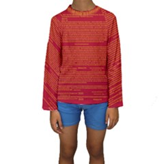 Writing Grace Kids  Long Sleeve Swimwear