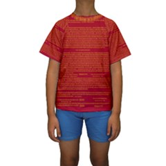 Writing Grace Kids  Short Sleeve Swimwear