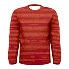 Writing Grace Men s Long Sleeve Tee