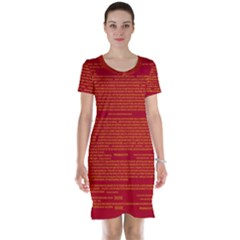 Writing Grace Short Sleeve Nightdress