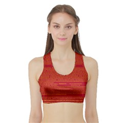 Writing Grace Sports Bra with Border