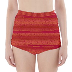 Writing Grace High-Waisted Bikini Bottoms