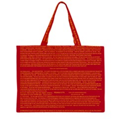 Writing Grace Large Tote Bag