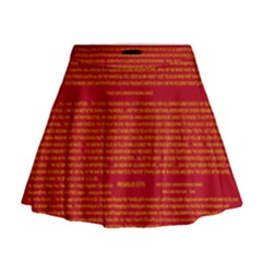 Writing Grace Mini Flare Skirt